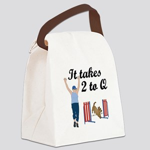 It Takes 2 To Q Canvas Lunch Bag