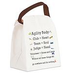 2-AgilityBodySquare2 Canvas Lunch Bag