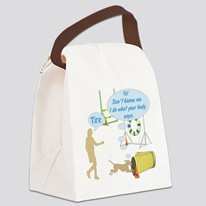 Body Says Canvas Lunch Bag