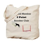 0pointSnookerClubSquare1 Tote Bag
