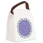 Qhypnosis2Circle Canvas Lunch Bag