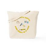 AgilityHappyQless_Square Tote Bag
