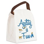 Agility Having Fun Canvas Lunch Bag