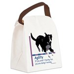 Agility Having Fun Canvas Lunch Bag
