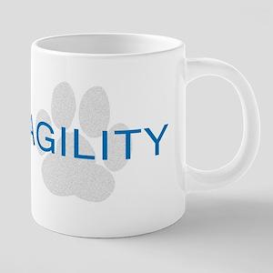 AGILITY_DOG_Button 20 oz Ceramic Mega Mug
