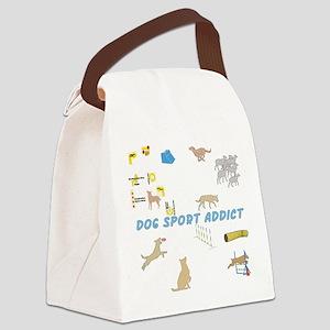 Dog Sport Addict Canvas Lunch Bag