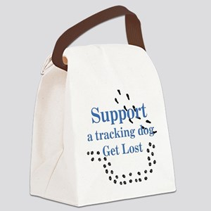 Support A Tracking Dog Canvas Lunch Bag