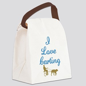 BlackLoveCarting2 Canvas Lunch Bag