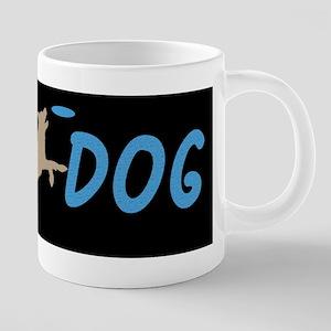 Disc Dog (3) 20 oz Ceramic Mega Mug