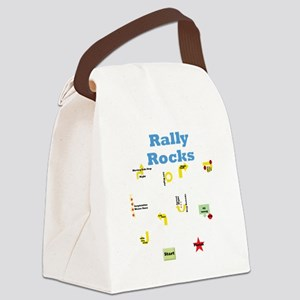 Rally Rocks 3 Canvas Lunch Bag