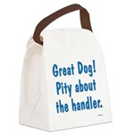Great Dog Canvas Lunch Bag