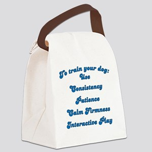 Train Your Dog Canvas Lunch Bag