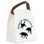 Rescue Dogs Rule Canvas Lunch Bag