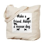 Adopt A Rescue Dog Tote Bag