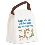 PlayStayButton Canvas Lunch Bag