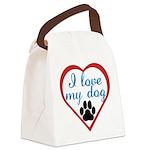 I_Love_My_Dog Canvas Lunch Bag