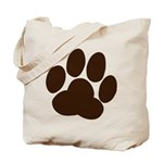 black_paw Tote Bag