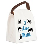 ILoveMutts4_10x10 Canvas Lunch Bag