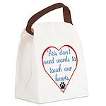 PetsTouchHeart6 Canvas Lunch Bag