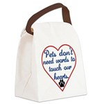Touch Your Heart v4 Canvas Lunch Bag