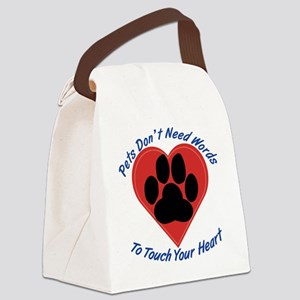 Touch Your Heart Canvas Lunch Bag