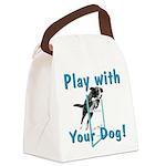 PlayWithDogCustom3000x3000 Canvas Lunch Bag