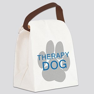 Therapy Dog Canvas Lunch Bag