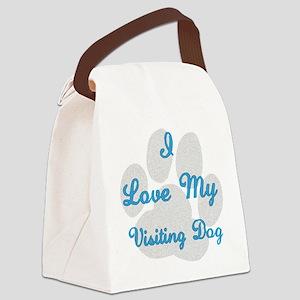 I_LoveMyVisitingDog Canvas Lunch Bag