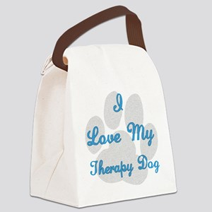 I Love My Therapy Dog Canvas Lunch Bag
