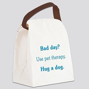 Bad Day Therapy Canvas Lunch Bag
