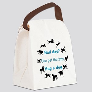 BadDay2_Black.png Canvas Lunch Bag