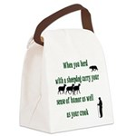 HerdingHumor1_trans10x10 Canvas Lunch Bag