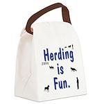 Herding is Fun Canvas Lunch Bag