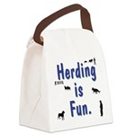 Herding is Fun Canvas Lunch Bag