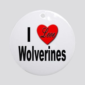 I Love Wolverines Keepsake (Round)