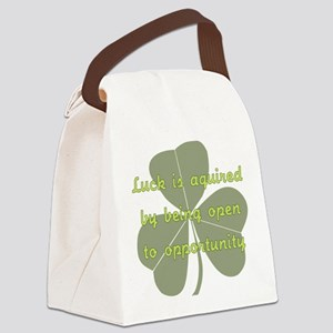Luck is Opportunity Canvas Lunch Bag