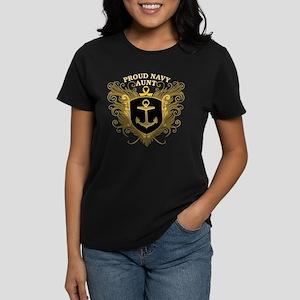 Proud Navy Aunt Women's Dark T-Shirt