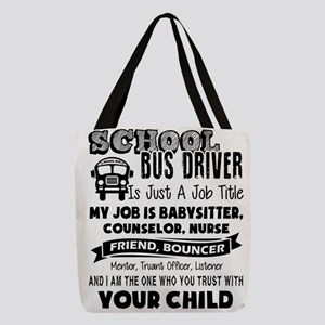 School Bus Driver Polyester Tote Bag