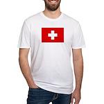 SWISS CROSS FLAG Fitted T-Shirt