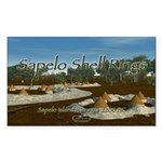 Sapelo Shell Rings Rectangle Sticker