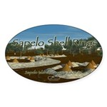 Sapelo Shell Rings Oval Sticker