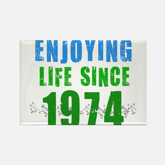 Enjoying life since 1974 Rectangle Magnet