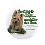 "Saving Dogs 3.5"" Button"
