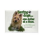 Saving Dogs Rectangle Magnet