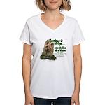 Saving Dogs Women's V-Neck T-Shirt