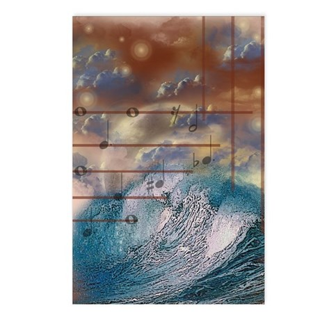 Sea, Sky and Music Postcards (Package of 8)