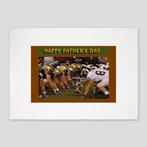Father's Day American Football 5'x7'Area Rug