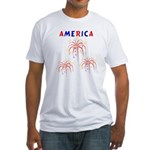 America's Fireworks Fitted T-Shirt