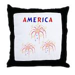 America's Fireworks Throw Pillow