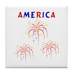 America's Fireworks Tile Coaster